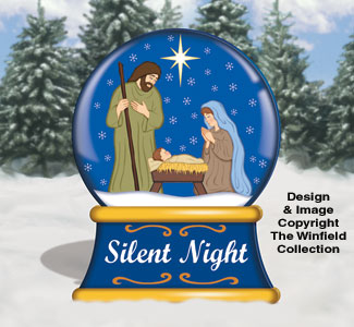 Large Silent Night Snow Globe Color Poster