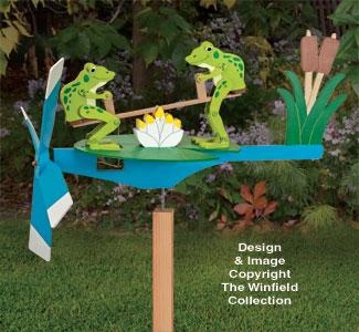 Teetering Frogs Whirligig Pattern