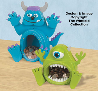 Fat Monster Coin Banks Pattern