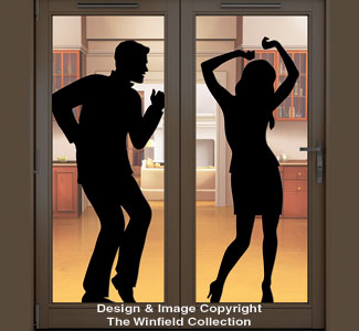 Home Alone Dancing Couple Shadow Pattern