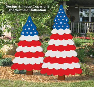 Patriotic Pine Trees Pattern