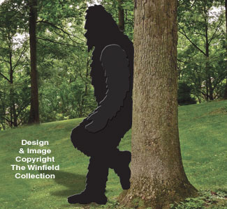 Leaning Bigfoot Woodcraft Pattern