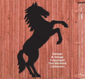 Life-Size Rearing Horse Shadow Pattern
