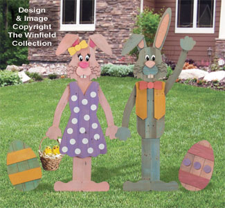 Pallet Wood Bunnies Pattern Set