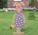 Pallet Wood Female Bunny Pattern