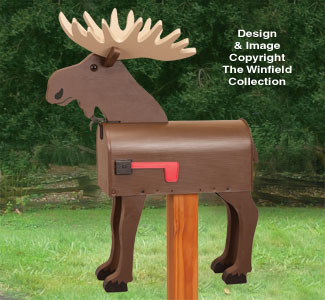 Moose Mailbox Woodcrafting Pattern