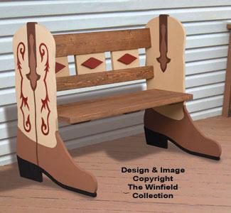 Cowboy Boot Bench Plans