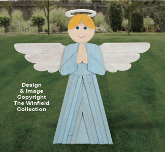 Pallet Wood Praying Angel Pattern