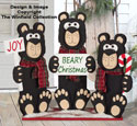 3 Bears Christmas Sign Pattern