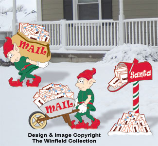 Fetching Santa's Mail Color Poster