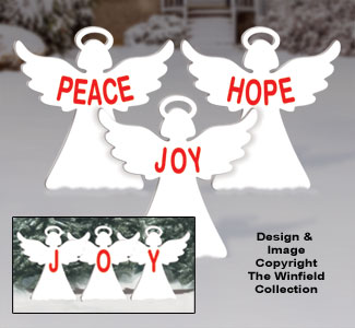 Small Holiday Message Angels Woodcraft Pattern