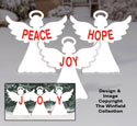 Medium Holiday Message Angels Woodcraft Pattern