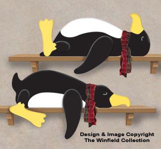 Lazy Penguins Woodcraft Pattern