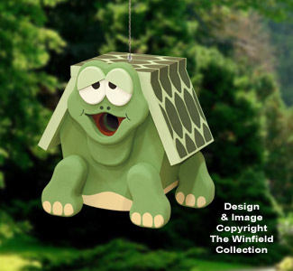 Painted Turtle Birdhouse Pattern