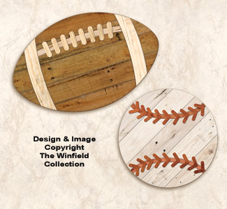 Pallet Wood Sports Balls Pattern Set
