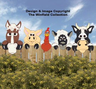 Funny Farm Animal Peekers Pattern