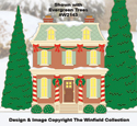 Christmas Village Mayor's Residence Color Poster