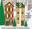 Christmas Village Townhouses Color Poster