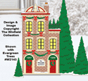 Christmas Village Apartments Pattern