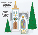 Christmas Village Church Pattern