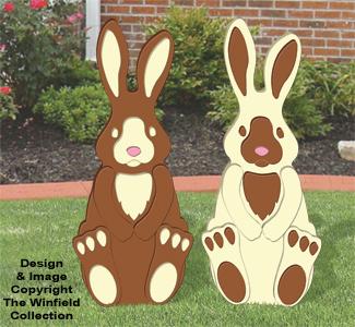 Dark and White Chocolate Bunnies Pattern