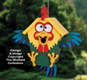 Ridiculous Rooster Birdhouse Pattern