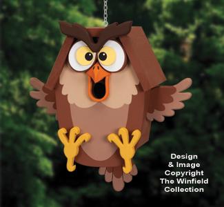Ornery Owl Birdhouse Pattern