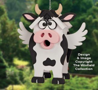 Happy Holstein Birdhouse Pattern