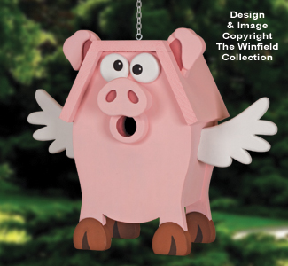 Peculiar Pig Birdhouse Pattern