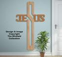 Large Jesus Cross Pattern