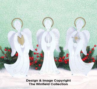 Small Caroling Angels Pattern