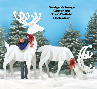Gigantic Reindeer Wood Pattern Set