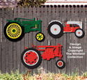 Small Tractors Wall Decor Pattern Set