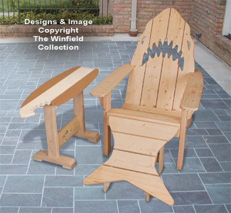 Adirondack Shark Chair & Surfboard Table Plans