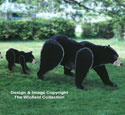 Black Bear & Cub Woodcraft Pattern