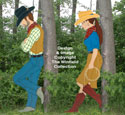 Cowboy & Cowgirl Wood Pattern Set