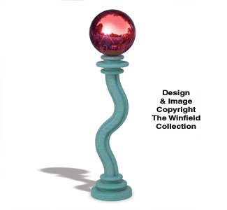 Gazing Ball Stand Pattern #3