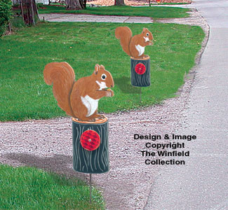 Squirrel Driveway Marker Pattern