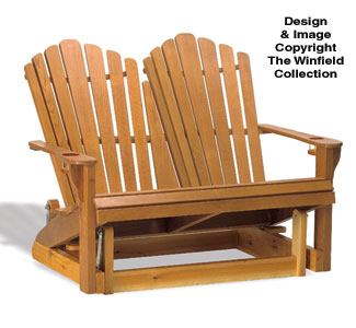 Adirondack Loveseat Glider Wood Plan