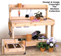 Potting Bench Woodworking Plan