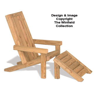 Landscape Timber Adirondack Chair Plans