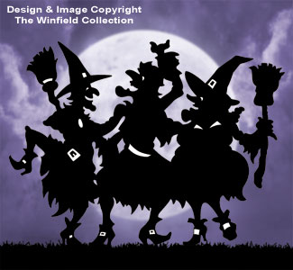 Dancing Witches Pattern