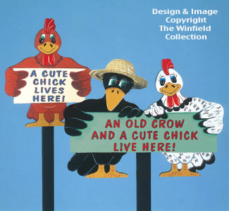 Old Crow & Cute Chick Signs Patterns