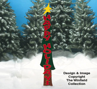 Slender Holiday Tree Wood Pattern