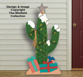 Christmas Cactus Woodcrafting Pattern