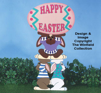 Bunny Trio Easter Signs Woodcraft Pattern
