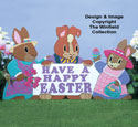 Bunny Family Greetings Woodcraft Pattern