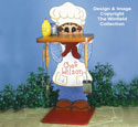 Chef Wilson BBQ Stand Wood Pattern
