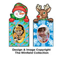 Reindeer & Snowman Photo Magnets
