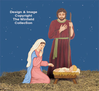 Holy Family Woodcraft Pattern Set